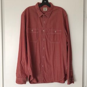 J. Crew Red Chambray Button Down - Size L